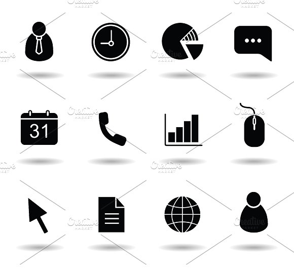 Office icons set. Vector - Icons