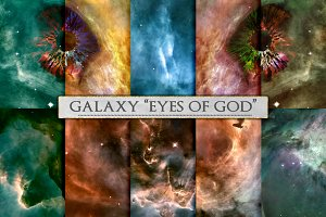 Galaxy Space Background, Eyes of God