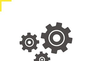 Cogwheels icon. Vector