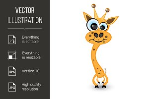Hilarious cartoon giraffe