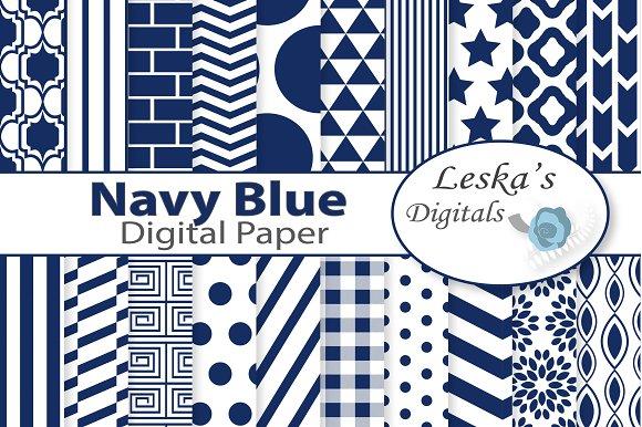 Navy Blue Digital Paper