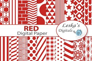 Red Digital Paper