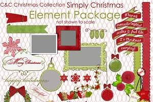 Simply Christmas 37-Elements/Clipart