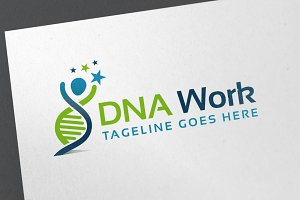 DNA work Logo Template