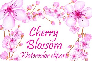 Watercolor blossom clipart