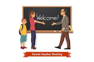 Teacher and parent meeting