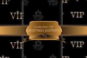 Set VIP seamless pattern
