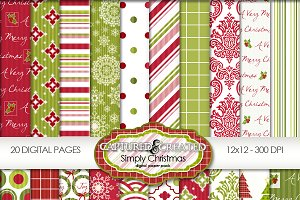 Simply Christmas: Mega Digital Paper