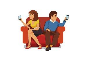 Smartphone addiction family
