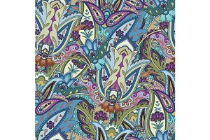 Fantasy Flowers Paisley Pattern