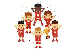 Children sports team wins