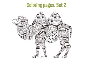 Coloring pages. Animals. Set 2