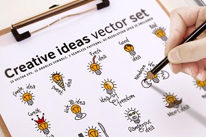 Creative ideas vector set