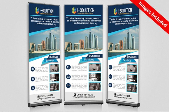 Business roll up banners templates presentation templates business roll up banners templates wajeb Image collections