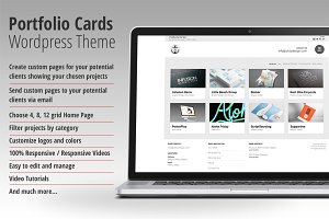 Portfolio Cards Wordpress Theme