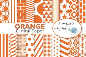 Orange Digital Paper