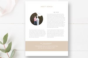 About Me Page Template for Photo