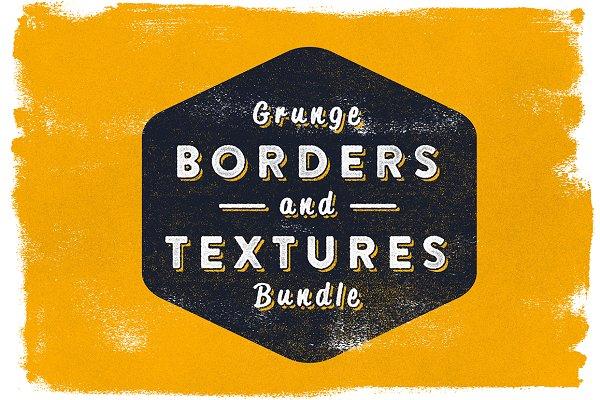 Grunge borders & textures
