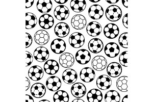 Seamless soccer game pattern