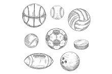 Sketched sport balls