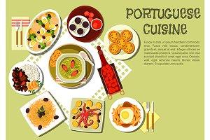 Portuguese cuisine menu icons