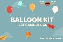 Balloon Kit - Flat 2D Game Assets