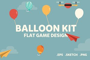 Balloon Kit - Flat 2D Game Assets