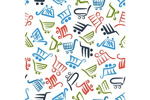 Shopping cart sketches pattern