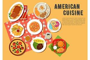 Picnic menu of american cuisine