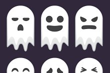 Collection of Cute Ghost Expressions