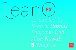 LeanO FY (10 fonts)