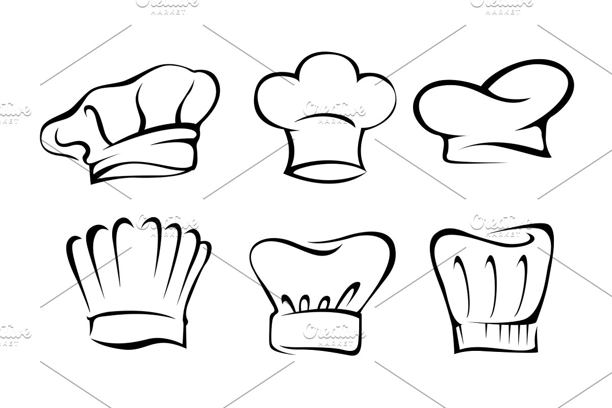 59704ad1 Chef Hat Collection ~ Illustrations ~ Creative Market