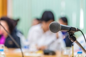 microphones in meeting room