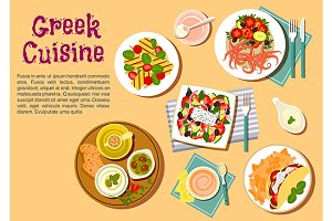 Popular greek cuisine dishes