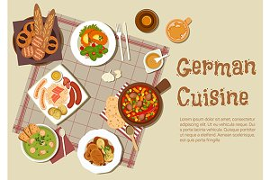 Authentic german cuisine dishes