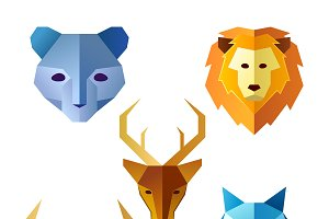 Geometric Animal Head Collection