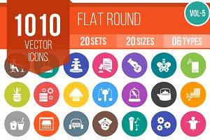 1010 Flat Round Icons (V5)