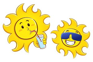 Funny Sun Cartoon Character