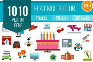 1010 Flat Multicolor Icons (V5)