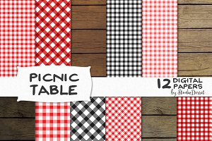 Picnic Table - Digital Papers