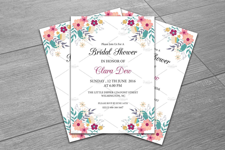 Bridal Shower Invitation Template ~ Invitation Templates ~ Creative ...