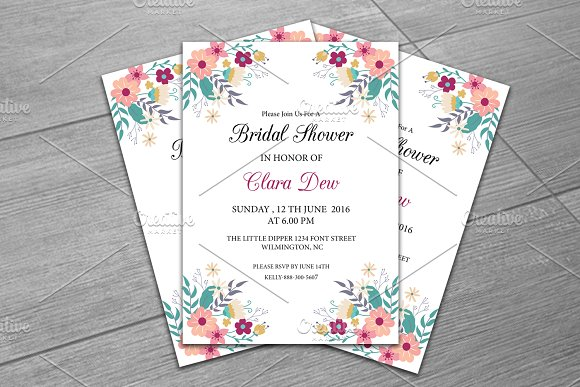 by retrographix in Templates Invitations · Bridal Shower Invitation Template - Invitations