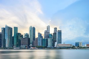 View of central Singapore skyline