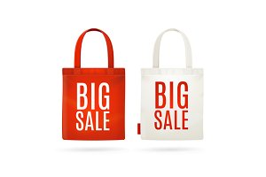 Sale Eco Bag Set. Vector