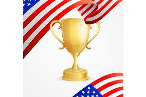 USA Winning Golden Cup Concept