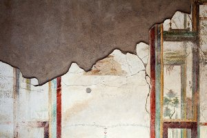 Fresco on the wall in Pompeii