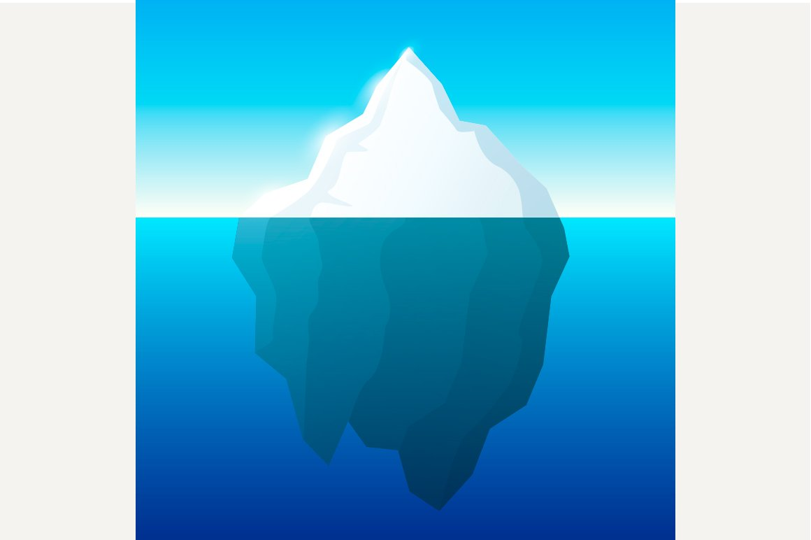 Iceberg Illustration Illustrations Creative Market