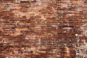 red brick wall vintage
