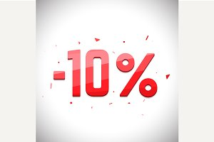 Ten percent sale off.