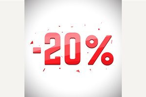 Twenty percent sale off.